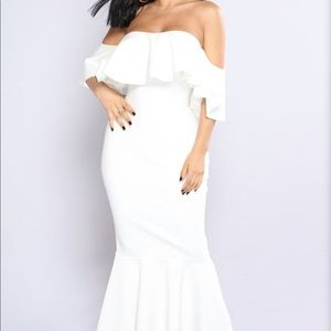 Ivory ruffle dress!